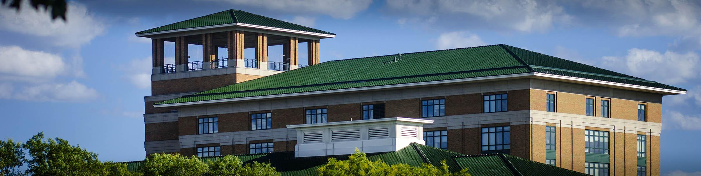 Exterior of Columbus Regional Hospital in Columbus, Indiana.